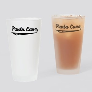Punta Cana Dominican Republic Retro Logo Drinking